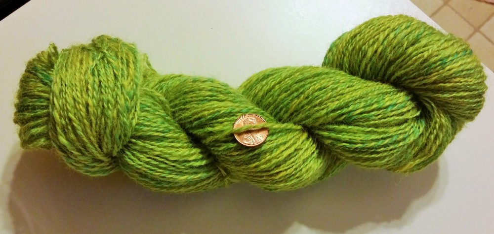 Handspun Yarn : ... had spun, plied and wound a beautiful hank of green handspun yarn